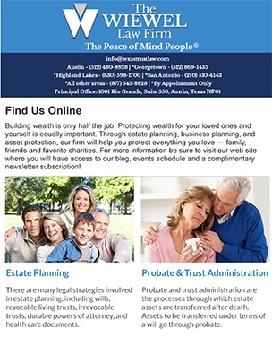 The Wiewel Law Firm eNewsletter Example